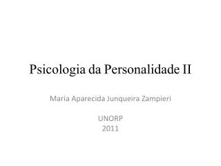 Psicologia da Personalidade II