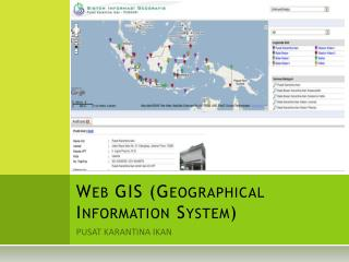 Web GIS (Geographical Information System)