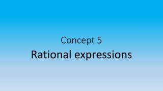 1.6 Evaluating expressions with rational numbers