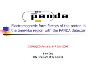 Electromagnetic form factors of the proton in the time-like region with the PANDA detector
