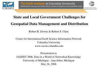 State and Local Government Challenges for Geospatial Data Management and Distribution