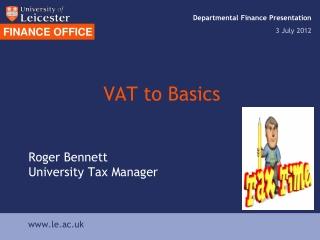 CHARITIES  VAT
