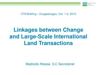CTA Briefing – Ouagadougou, Oct. 1-2, 2010