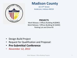 Design-Build Project Request for Qualification and Proposal: Pre-Submittal Conference