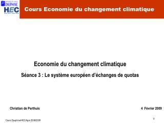 Cours Economie du changement climatique