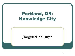 Portland, OR: Knowledge City