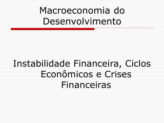 Macroeconomia do Desenvolvimento