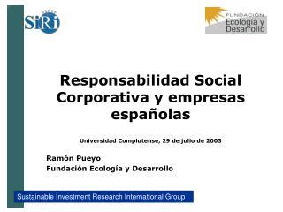 Ramón Pueyo Fundación Ecología y Desarrollo