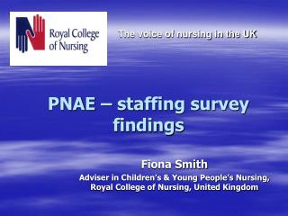 PNAE – staffing survey findings