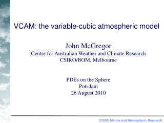 VCAM: the variable-cubic atmospheric model