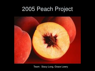 2005 Peach Project