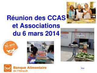 Réunion des CCAS et Associations du 6 mars 2014