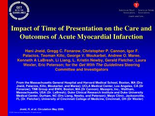 Impact of Time of Presentation on the Care and Outcomes of Acute Myocardial Infarction