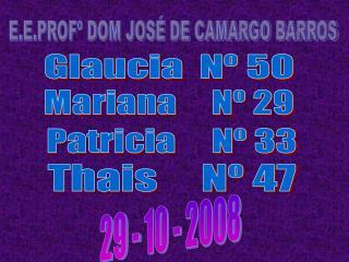 E.E.PROFº DOM JOSÉ DE CAMARGO BARROS