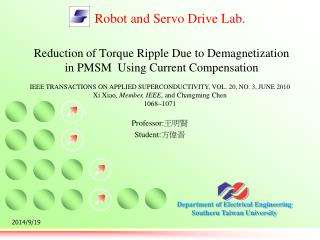 Reduction of Torque Ripple Due to Demagnetization  in PMSM  Using Current Compensation