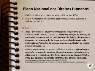 Plano Nacional dos Direitos Humanos