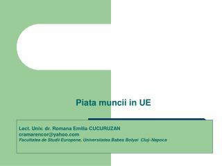 Piata muncii in UE