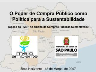 O Poder de Compra Público como Política para a Sustentabilidade
