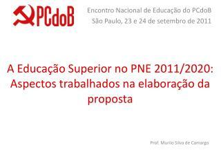 A Educação Superior no PNE 2011/2020: Aspectos trabalhados na elaboração da proposta