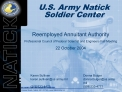 US ARMY NATICK SOLDIER CENTER                                        Kansas Street   Natick, MA   01760   natick.army.mi