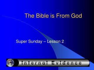 The Bible is From God