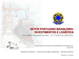 SECRETARIA DE PORTOS DA PRESIDÊNCIA DA REPÚBLICA SEP/PR