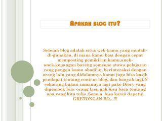 Apakah  blog  itu ?
