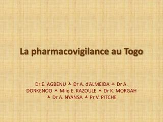 La pharmacovigilance au Togo