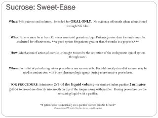 Sucrose: Sweet-Ease