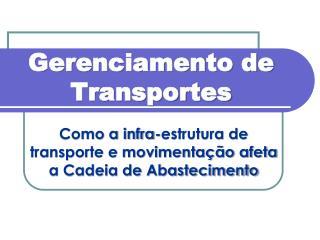 Gerenciamento de Transportes