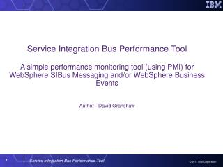 Service Integration Bus Performance Tool