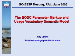 The BODC Parameter Markup and Usage Vocabulary Semantic Model