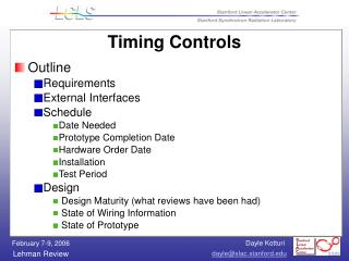 Timing Controls