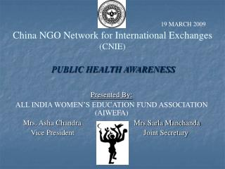 China NGO Network for International Exchanges  (CNIE)