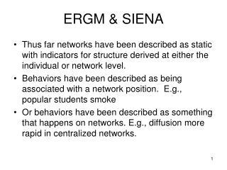ERGM & SIENA