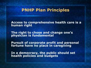 PNHP Plan Principles