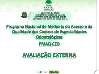 MINISTÉRIO DA SAÚDE SECRETARIA DE ATENÇÃO À SAÚDE DEPARTAMENTO DE ATENÇÃO BÁSICA