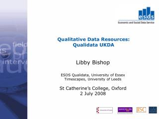 Qualitative Data Resources: Qualidata UKDA