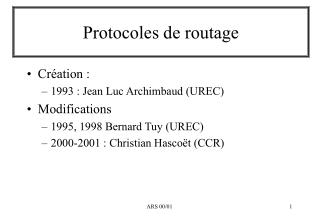 Protocoles de routage