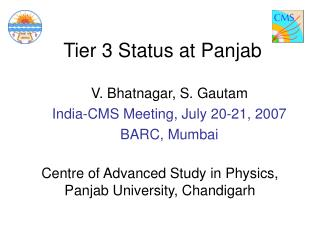Tier 3 Status at Panjab