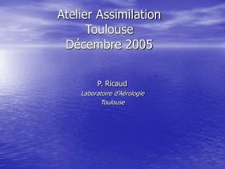 Atelier Assimilation Toulouse  Décembre 2005