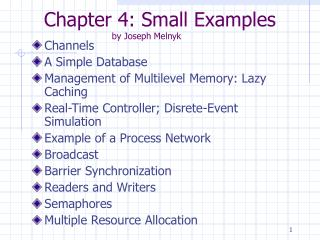 Chapter 4: Small Examples by Joseph Melnyk