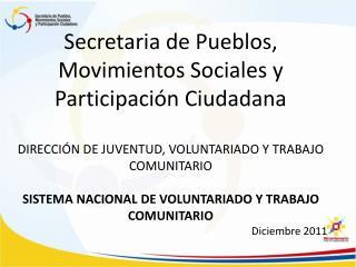 Secretaria de Pueblos, Movimientos Sociales y Participación Ciudadana