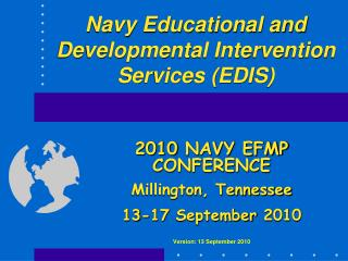 navy educational and developmental intervention services edis