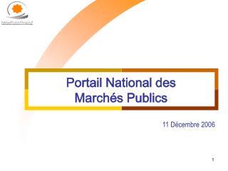 Portail National des March�s Publics