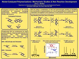 Nickel-Catalyzed Polymerizations: Mechanistic Studies & New Reaction Development Anne J. McNeil