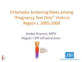 "Chlamydia Screening Rates among ""Pregnancy Test Only"" Visits in Region I, 2005-2009"