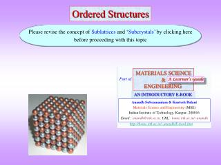 Ordered Structures