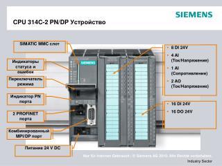 CPU 314C-2 PN/DP  Устройство