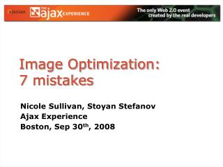 Image Optimization:  7 mistakes